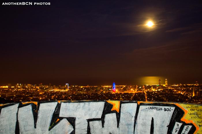 panoramica nocturna barcelona