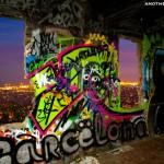 vista nocturna barcelona bunquer