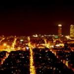 vista nocturna barcelona bunker