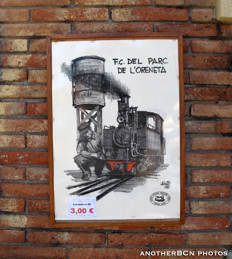 Parc de l'Oreneta tren