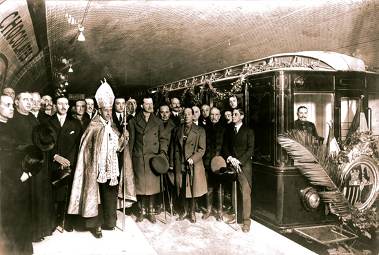 Inauguracion metro 1924 Barcelona