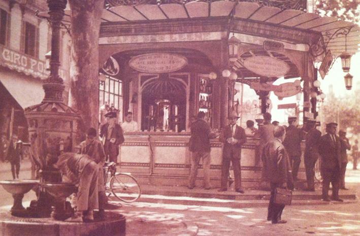 Quiosc i Font de Canaletes Barcelona