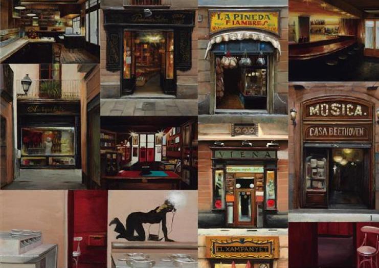 Pinturas de Rincones de Barcelona, Sala Parés