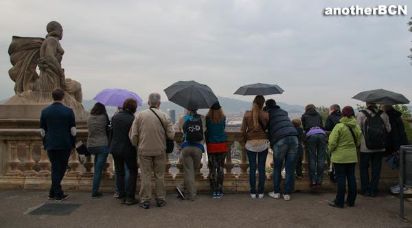 Vistas desde el MNAC, Montjuic, Barcelona