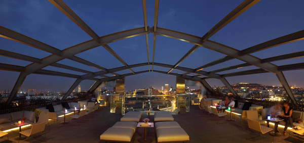 The rooftop bar of the Hotel Royal Passeig de Gràcia, Barcelona