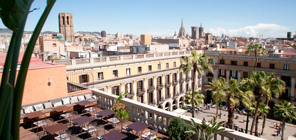 Views from the rooftop terrace of Hotel Do Barcelona