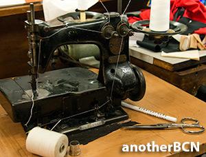 Maquina de coser guantes