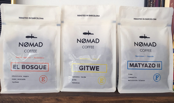 Cafetería Nomad Coffee, torrefactor de Barcelona