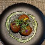 Primer plato Restaurante Hotel Negresco Barcelona
